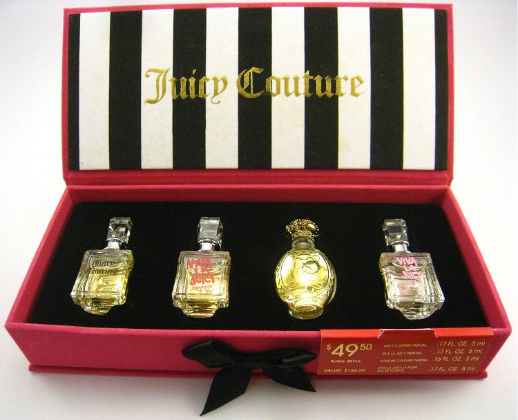 Juicy Couture for Women Miniature Collection Viva , La Fleure, 0.17 oz- 4 pc Set - Cosmic-Perfume