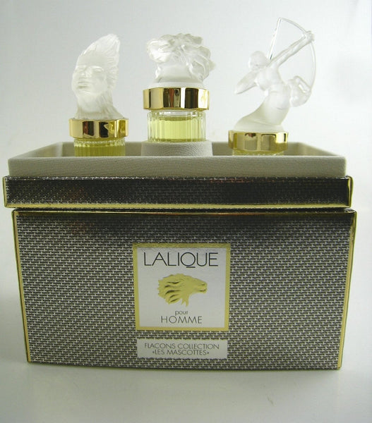 Lalique for Men LES MASCOTTES Fragrance Miniature Collection EDP Splash 0.17 oz - 3 Pc Gift Set - Cosmic-Perfume