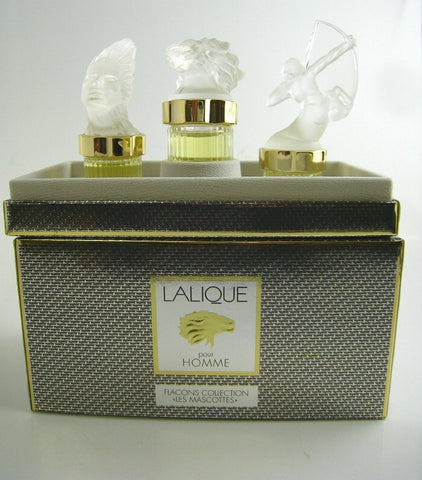 Lalique for Men LES MASCOTTES Fragrance Miniature Collection EDP Splash 0.17 oz - 3 Pc Gift Set - Discount Fragrance at Cosmic-Perfume
