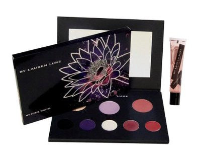 Lauren Luke MY FIERCE VIOLETS Complete Makeup Palette for Eyes, Cheeks & Lips - Cosmic-Perfume
