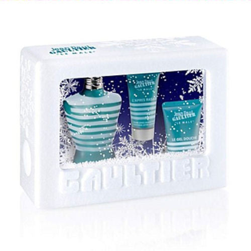 Le Male for Men Jean Paul Gaultier EDT 4.2 oz 3 pc Gift Set - Discount Fragrance at Cosmic-Perfume