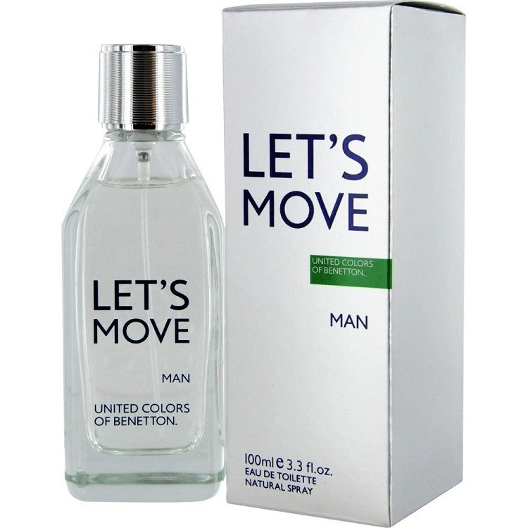 Benetton Let's Move MAN for Men by Benetton EDT Spray 3.3 oz - Cosmic-Perfume