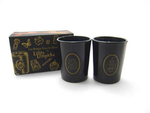 Lolita Lempicka Glass Votive Candle Duo for Women & Men 1.0 oz Each - 2 pc Set - Cosmic-Perfume