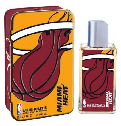 Miami Heat NBA for Men EDT Spray 3.4 oz (New in Tin) - Discount Fragrance at Cosmic-Perfume