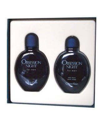 Obsession Night Men Calvin Klein EDT Spray 4.0 oz & After Shave 4.0oz - GIFT SET - Cosmic-Perfume
