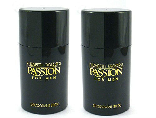 Passion for Men by Elizabeth Taylor Deodorant Stick 2.6 oz (Pack of 2) - Cosmic-Perfume
