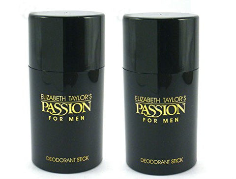 Passion for Men by Elizabeth Taylor Deodorant Stick 2.6 oz (Pack of 2) - Discount Bath & Body at Cosmic-Perfume