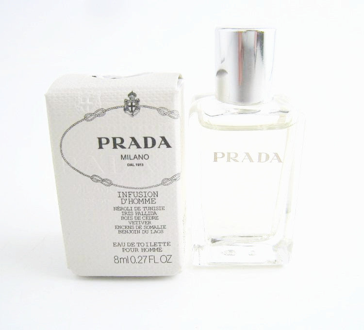 Prada Infusion D'Homme for Men by Prada EDT Splash Miniature 0.27 oz - Cosmic-Perfume