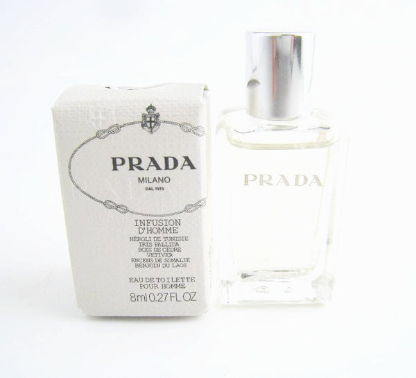 Prada Infusion D'Homme for Men by Prada EDT Splash Miniature 0.27 oz - Discount Fragrance at Cosmic-Perfume
