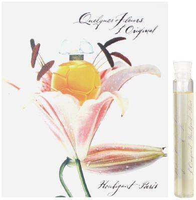 Quelques Fleurs L'Original for Women by Houbigant EDT Vial Sample Splash 0.06 oz - Discount Fragrance at Cosmic-Perfume