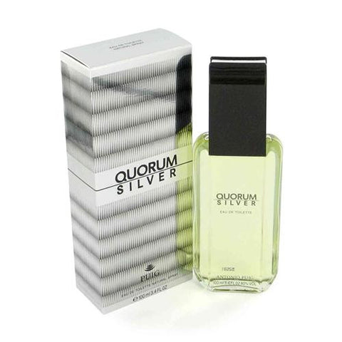 Quorum Silver for Men by Antonio Puig EDT Spray 3.4 oz - Discount Fragrance at Cosmic-Perfume