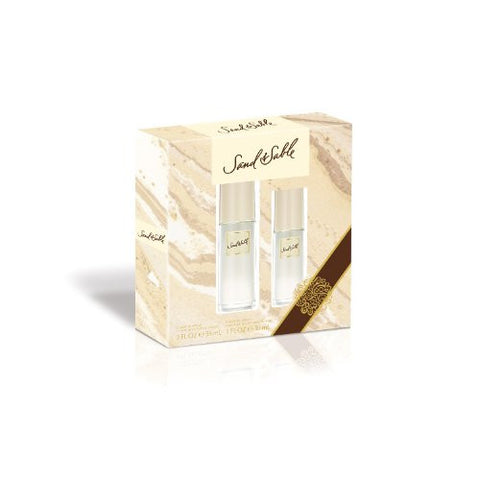 Sand & Sable for Women by Coty Cologne Sprays 2.0 oz & 1.0 oz - 2 pc Set - Cosmic-Perfume