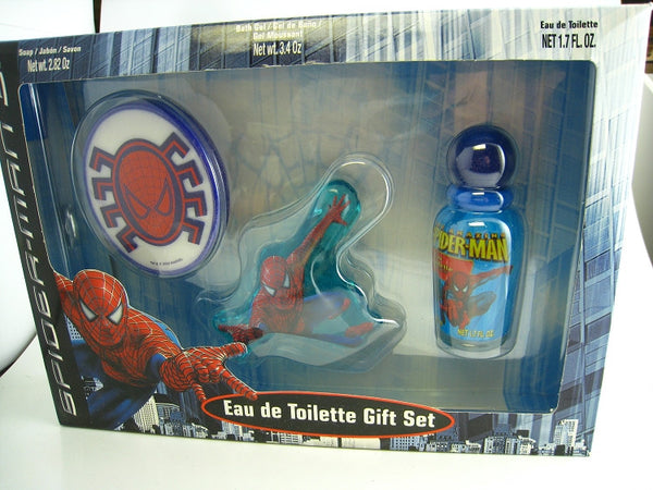 Spider Man for Kids by Marvel EDT Spray 1.7 oz & Soap + Bath Gel Gift Set - Discount Fragrance at Cosmic-Perfume
