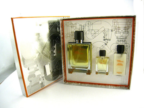 Terre D'Hermes for Men by Hermes EDT Spray 3.3 oz + Travel Spray + A/S Balm Gift Set - Discount Fragrance at Cosmic-Perfume