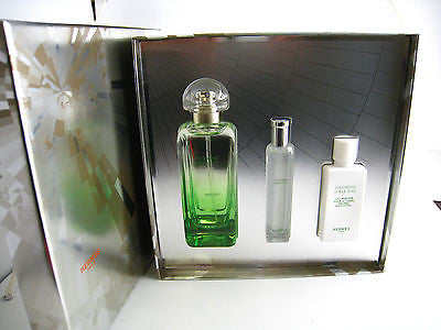 Un Jardin Sur Le Toit for Women by Hermes EDT Spray 3.3 oz  3 Pcs GIFT SET - Cosmic-Perfume
