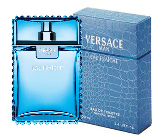 Versace Man Eau Fraiche for Men by Versace EDT Spray 3.4 oz - Cosmic-Perfume