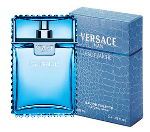 Versace Man Eau Fraiche for Men by Versace EDT Spray 3.4 oz - Discount Fragrance at Cosmic-Perfume