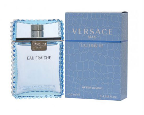 Versace Man Eau Fraiche for Men by Versace After Shave Splash 3.3 oz - Discount Bath & Body at Cosmic-Perfume