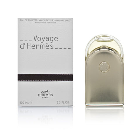 Voyage d'Hermes Unisex by Hermes EDT Refillable Spray 3.3 oz - Cosmic-Perfume