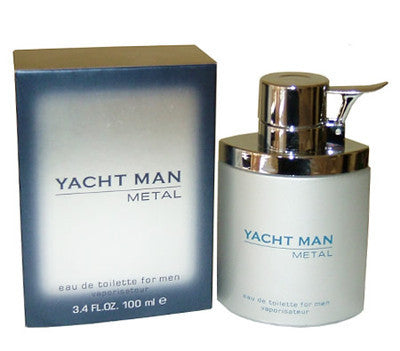YACHT MAN METAL for Men EDT Spray 3.4 oz - Discount Fragrance at Cosmic-Perfume