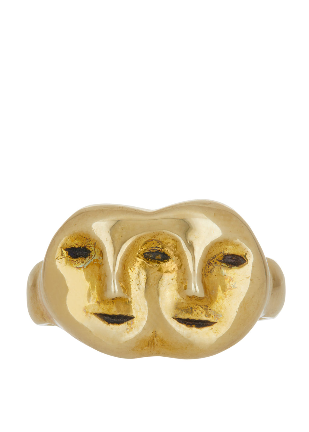 Janus Ring in Brass