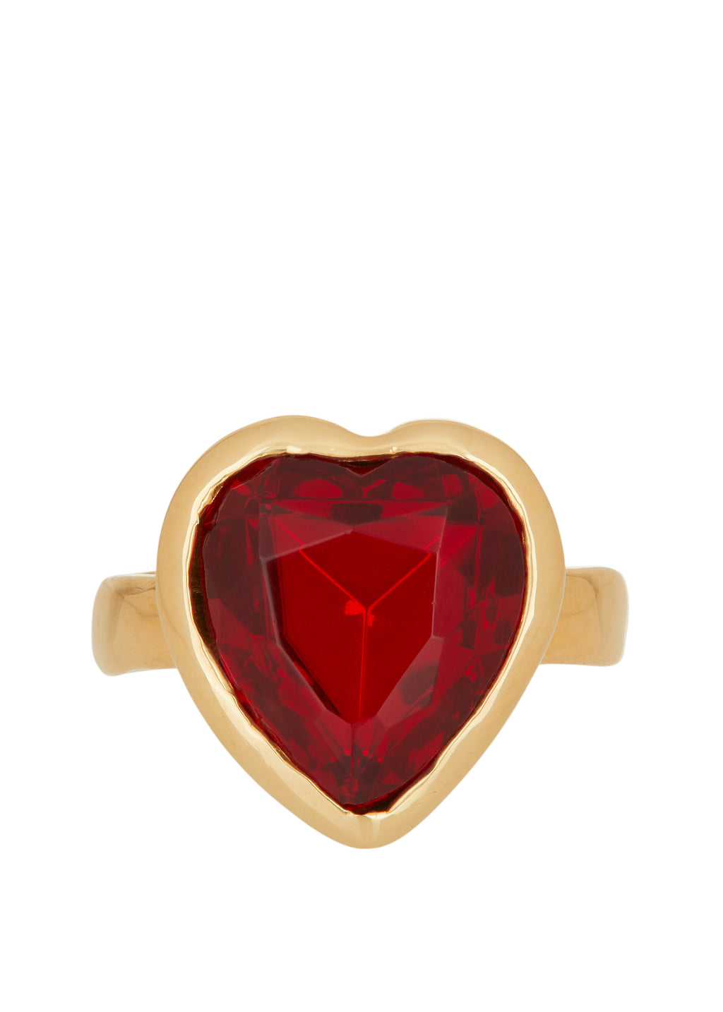 Lovely Ring 14k - Red Glass