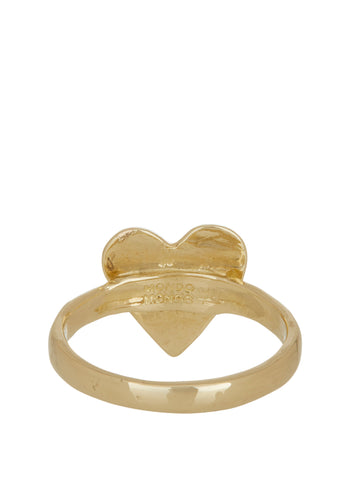 Heart Ring with Star Setting in 14K