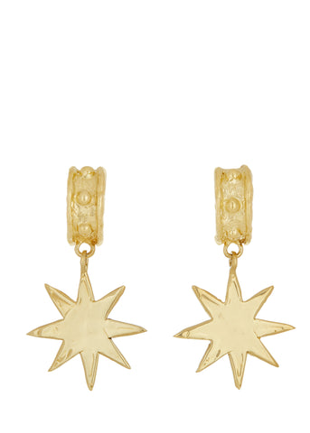 Big Star Earrings in Brass