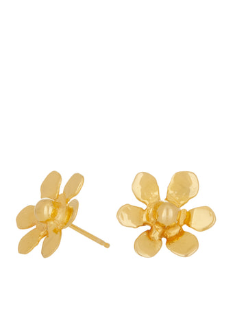 Daisy Studs in Gold