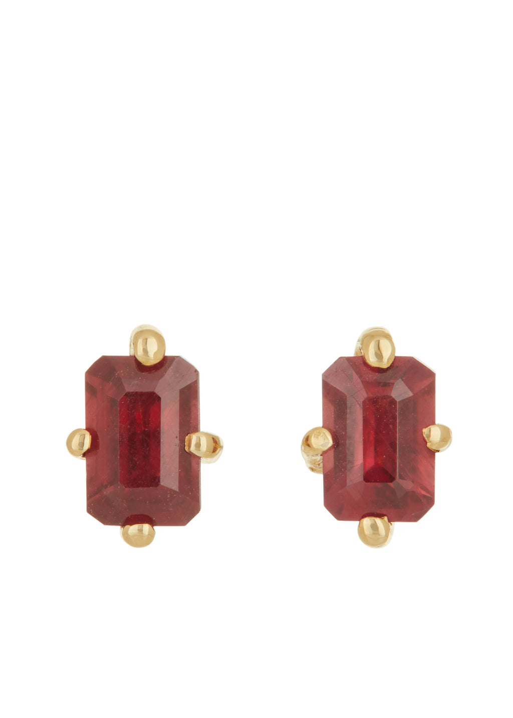 Guinevere Studs - Ruby