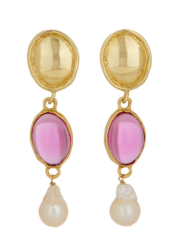 Sirena Earrings - Fuchsia