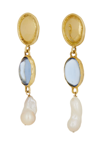 Sirena Earrings - Light Blue