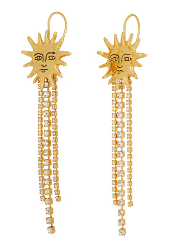 Soleil Earrings - Crystal