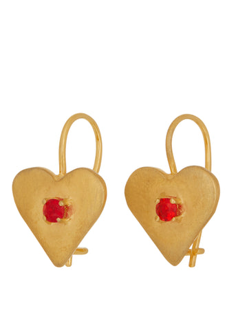 Sweetheart Earrings in Gold