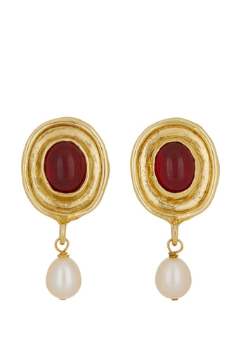 Viva Earrings - Red