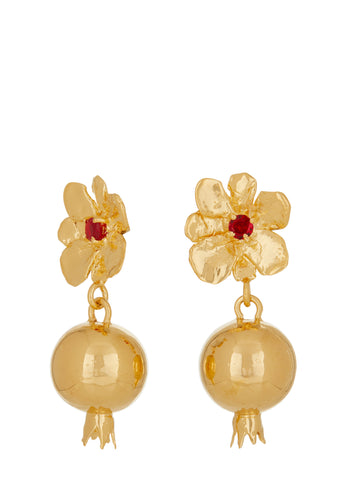 Melograno Earrings - Ruby