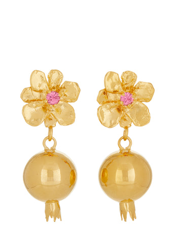 Melograno Earrings - Rose