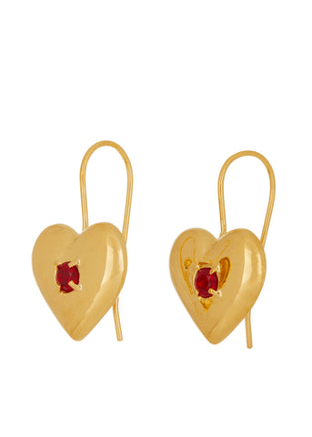Lover Earrings in Polished