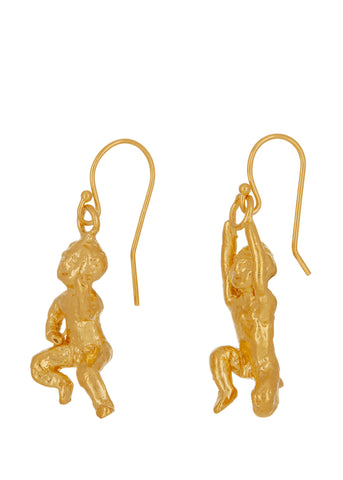 Remus And Romulus Earrings in Gold