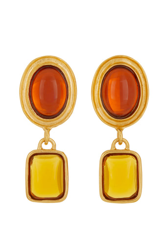 Jelly Earrings - Amber