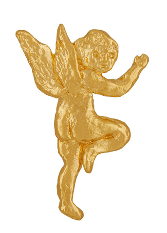 Eros Brooch in Gold