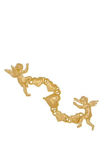 Eros and Psyche Chain Brooch in Gold