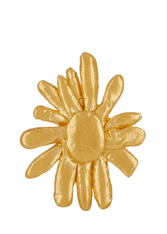 Chamomile Pin in Gold