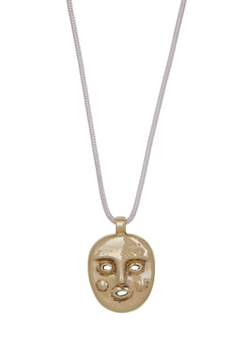 Ooga Booga Necklace in Brass