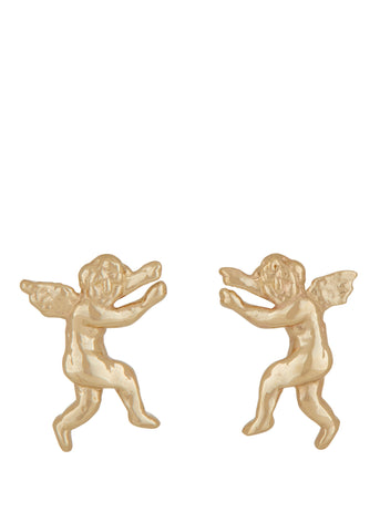 Eros and Psyche Studs in 14k