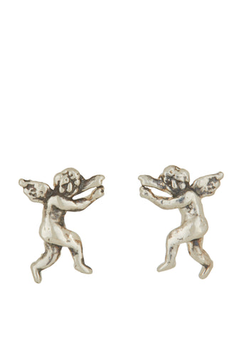 Eros and Psyche Studs in Sterling Silver