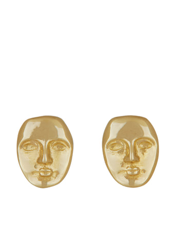 Mini Face Studs in 14k