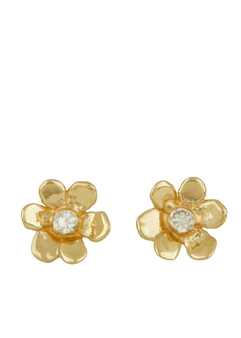 Mini Daisy Studs 14k - Diamond