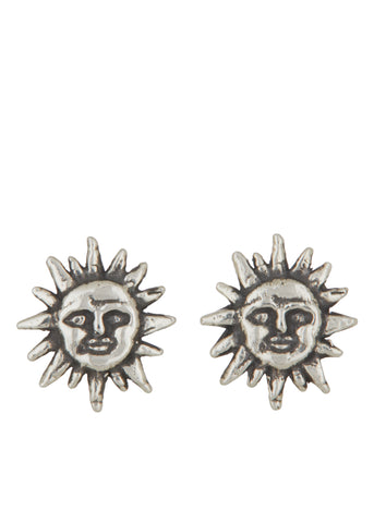 Mini Soleil Studs in Sterling Silver