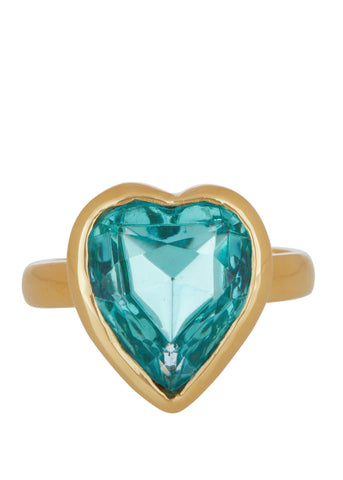 Lovely Ring 14k - Aqua